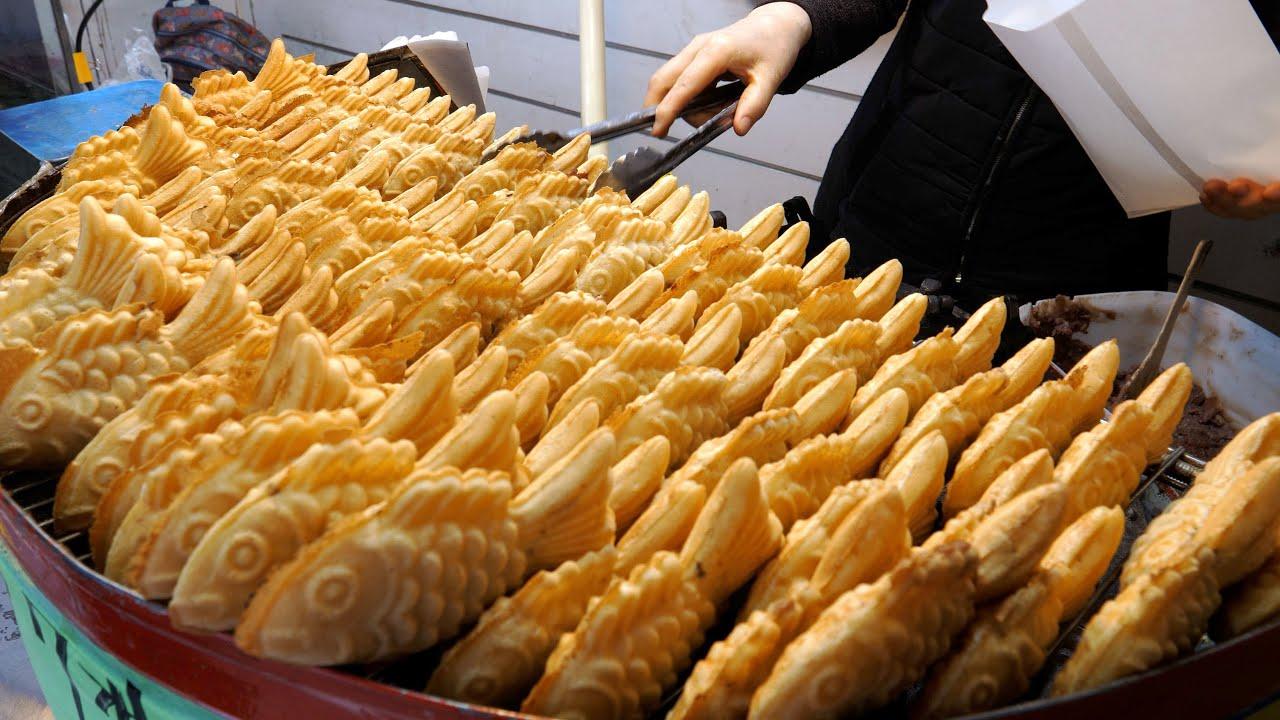 침샘 자극하는 길거리 음식 몰아보기, 붕어빵, 타코야끼, 닭꼬치, 계란빵, 떡볶이 | Korean Street Foods Collection | Korean Street food
