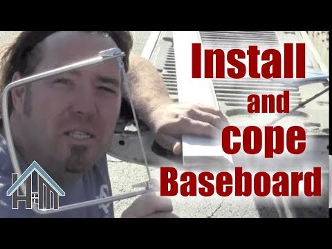 How to replace baseboard, cope trim, cut trim. Easy! Home Mender.