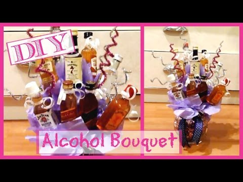 DIY Alcohol Bouquet │ Alcohol Bottle Arrangement │Gift Idea