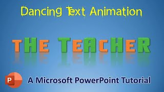 Liquid Text Reveal Animation in PowerPoint 2016 | Motion Graphics