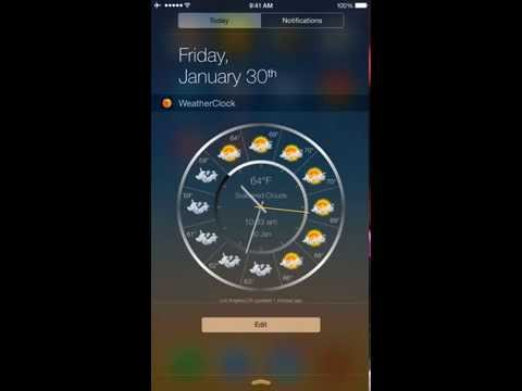Weather Clock - Free weather forecast widget & app. Weather reports in Notification Center