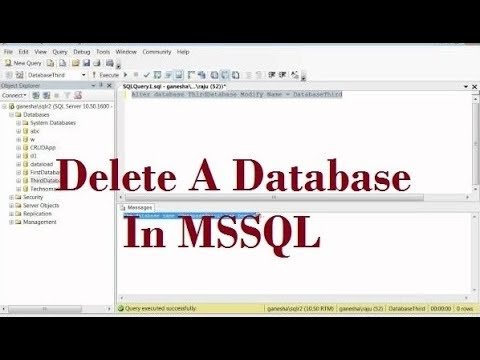 How To Rename A Database In MS Sql