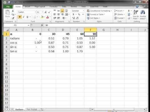 Excel VBA: Using Trig Functions