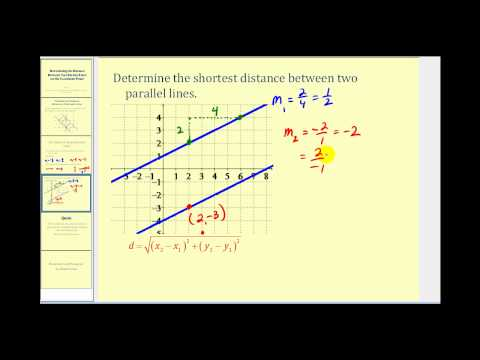 Determining the Distance Between Two Parallel Lines