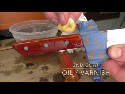 "Series: Make the Ron Hock 8"" Kitchen Knife Kit - Part 5: Applying Finish"