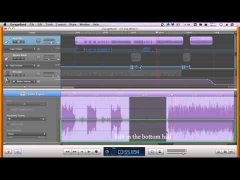 Editing without Flex Time starting in GarageBand - Minute GarageBand