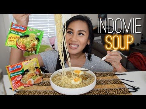 Indomie SOUP NOODLES Taste Test 🍜 Mukbang