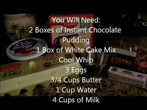How to make a Chocolate Pudding Poke Cake