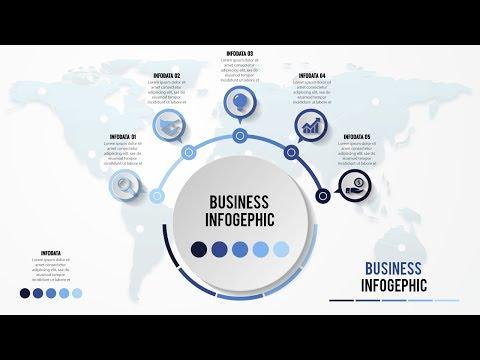 How to make creative business infographic design Illustrator tutorial