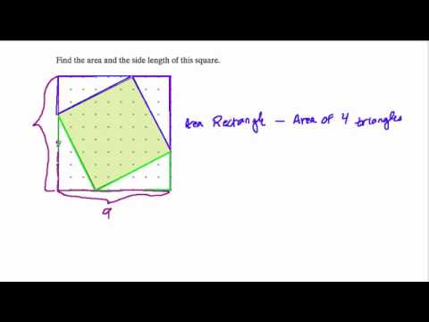 Finding the area of a square and its side length