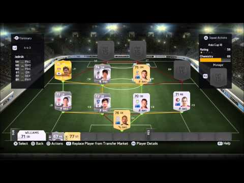 Fifa 15 Ultimate Team Asia Cup - Best team with 100 chemistry !!