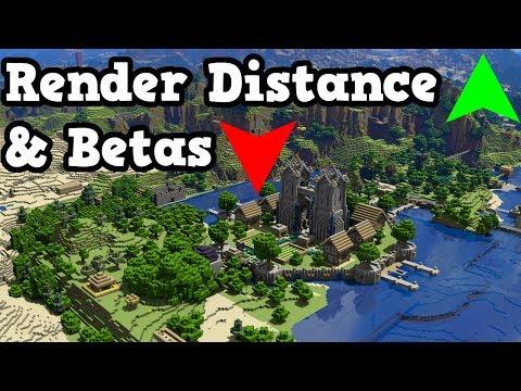 Minecraft PE 1.3 - New, CRAZY Render Distances & Beta Change