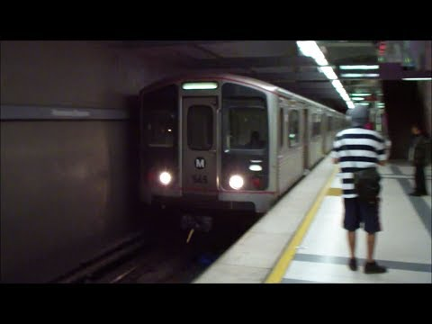 Metro Los Angeles: Red and Purple Line Trains at Pershing Square