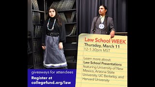 Law School Week - Law School Presentations - American Indian College Fund