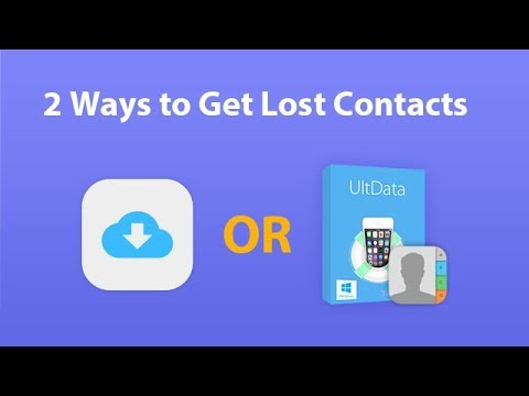 Two Ways to Get Contacts from iCloud. Quick & Easy