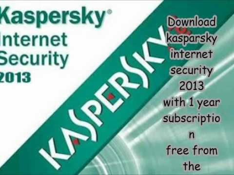 kasparsky internet security 2013 for windows 8 free with 1 year subscription