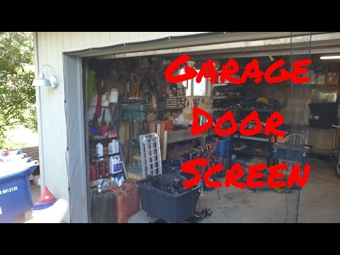 Jobar's Instant Garage Screen Door-Double - Harbor Frieght
