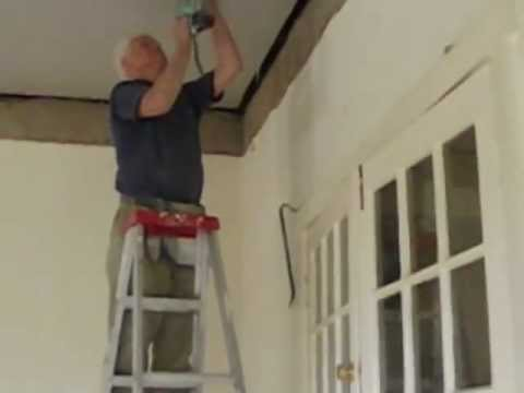 How to Install an Ornate Plaster Ceiling Part 3