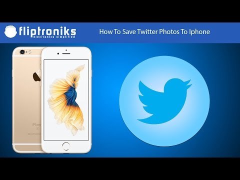 How To Save Twitter Photos To Iphone - Fliptroniks.com