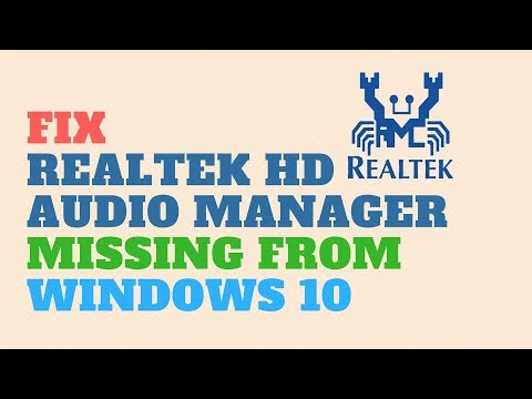 Fix Realtek HD Audio Manager Missing from Windows 10