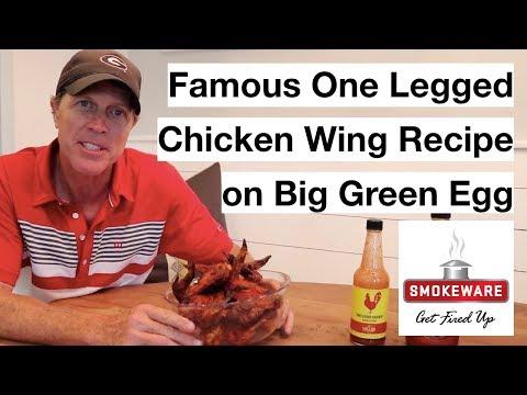 Best Wings on Big Green Egg (One Legged Chicken Recipe)