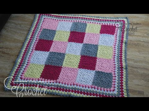 How to Crochet A Baby Blanket: Modern Baby