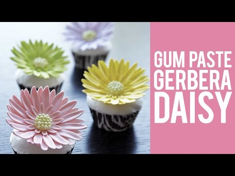 How to make Gum Paste Gerbera Daisies
