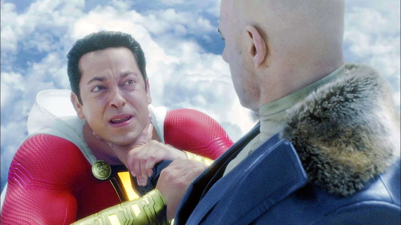Shazam vs Dr. Sivana (FIrst Fight) | Shazam! [4k, HDR]