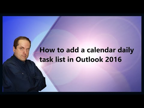 How to add a calendar daily task list in Outlook 2016