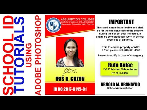 Photoshop Tutorials l HOW TO MAKE SCHOOL ID'S