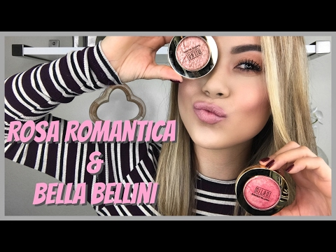 New Milani Blushes | Rosa Romantica & Bella Bellini - Swatch and Review