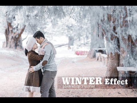 WINTER EFFECT Photoshop Tutorial | Prewedding Sesion
