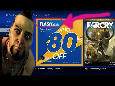 PS4 FLASH SALE Up to 80% OFF PSN Video Games- Finally Sweet Deals!