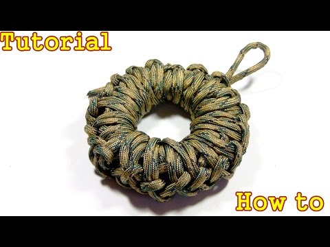 How To Make A Paracord Donut (1 second to unwrap with no knots )