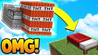 TNT WARS in Minecraft BED WARS! (INSANE CANNON TROLLING)
