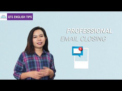 Business Email 3 - Kết Thúc Một Business Email Chuyên Nghiệp | QTS English Tips