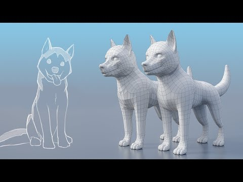 Modeling a Husky Puppy - Exercise Notes