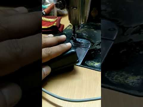 Electronic regulator for  household sewing machine working with slow control speed
