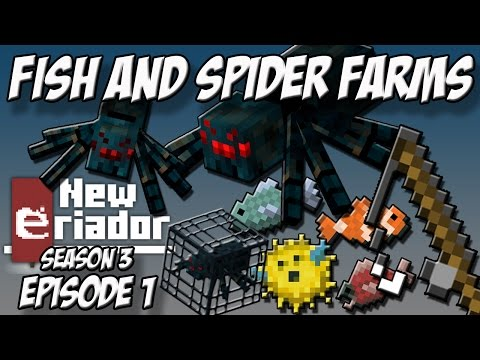 AFK Fish Farm and Cave Spider XP Farm [New Eriador S3E1] A Minecraft Server Let's Play