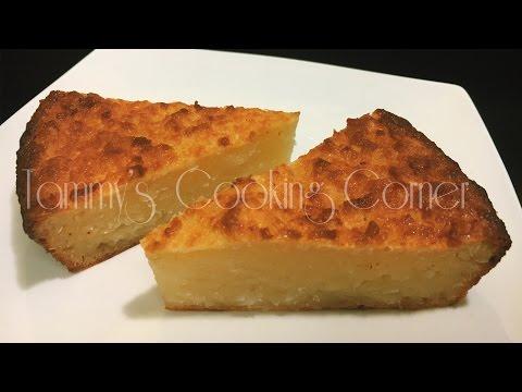 Banh Khoai Mi Nuong - BAKED CASSAVA CAKE (Bánh Khoai Mì Nướng Dừa và Mật Ong)