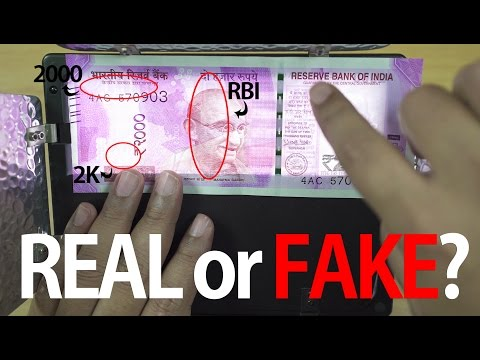 How to Check if Rs 2000 Notes are Real or Fake? (Hidden Security Features)