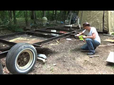 Preparing My Old Camper Frame For A Tiny House