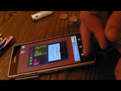 Dont waiste money ! Test battery hack with a smartphone ,tablet with magnetic sensor.