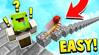 TWO NOOBS vs EASY MINECRAFT PARKOUR MAP!