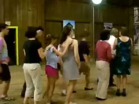 Ethnic dancing steps lively