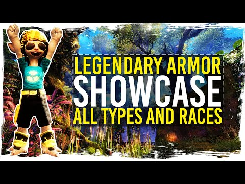 Guild Wars 2 - Legendary Armor Showcase - All Types / Races / Genders / 1080p 50fps