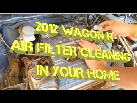 Air filter cleaning at home -Wagon R 2012 model