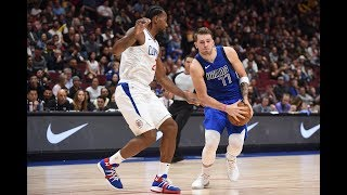 Luka Doncic Puts The Moves on Kawhi Leonard, Nearly Fakes Him Out
