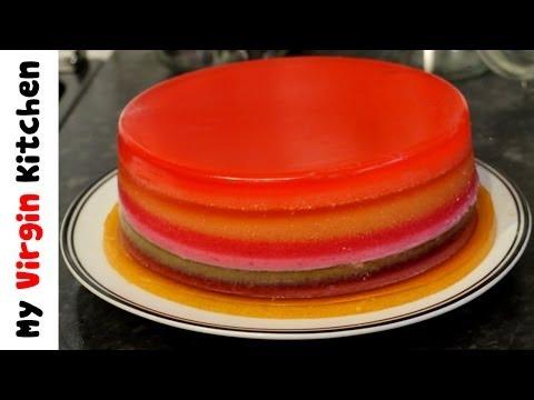 HOW TO MAKE A JELLY / JELLO RAINBOW CAKE