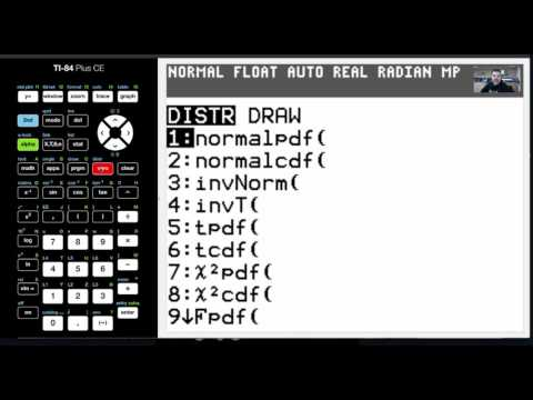 TI-84 CE Tutorial 44 Calculating Probabilities of a Normal Distribution with Z-Scores